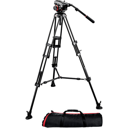 MANFROTTO 504HD+546BK MIDI TWIN SYSTEM(MS)