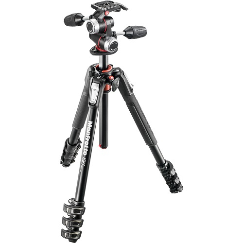 MANFROTTO 190 ALU 4 SECTION WITH XPRO 3 WAY HEAD