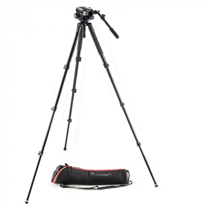 MANFROTTO 504 MVT535AQALU SINGLE LEG VIDEO SYS KIT